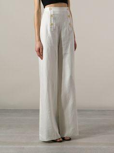 YVES SAINT LAURENT VINTAGE - wide leg trousers 8