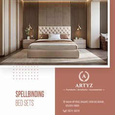 Crafted to offer comfort with elegance in hours of leisure.   Check out the latest collection of modern day home furniture at Artyz today!  #homedecor #interiors #LuxuryFurniture #beds #livingroomideas #modernbeds #Artyz