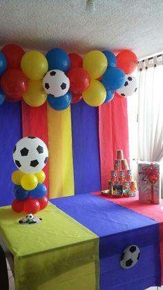 Colombian birthday Lego Soccer, Soccer Cake, Colombia Soccer, Soccer Birthday Parties, Baby First Birthday, Hulk, Ecuador, Magnolia, First Birthdays
