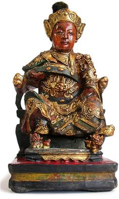 Chinese Carved Wooden Gods Chinese Wooden Gods Chinese