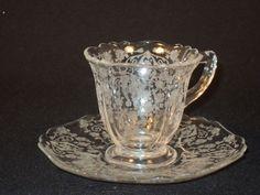 Cambridge Diane Demitasse Cup and Saucer