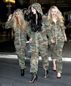Trendy attire: Rihanna wore nearly the same style Kylie Jenner recently rocked alongside her 'wolf pack' for her sweet 16 bash on August 17