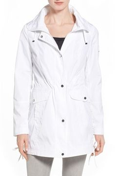 Laundry by Shelli Segal Windbreaker with Lace-Up Sides Lab Coats For Men, Laundry By Shelli Segal, Corset, Windbreaker, Raincoat, Lace Up, Nordstrom, Jackets, Style
