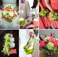 Coral and Lime Green Wedding Inspiration