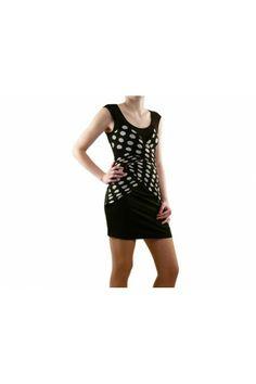 Robe LUCY PARIS Femme  Couleur(s) noir - blanc - transparent  Composition 100 Polyester  col rond, Imprimés, Motifs  Fermeture à bouton et zip, plis décoratifs