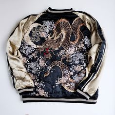 Vintage embroidered silk Japanese jacket