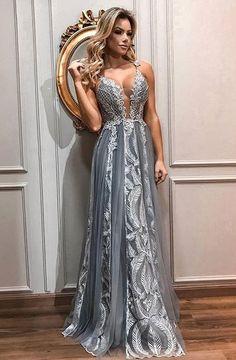 9cdf7ff9dd vestido de festa longo cinza Dicas das melhores lojas https   sereia-moda