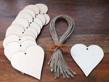 Wooden Heart Place Names Favours