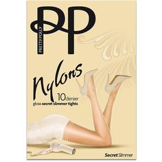 Pretty Polly Nylons Gloss Secret Slimmer Pantyhose ($15) ❤ liked on Polyvore featuring intimates, hosiery, tights, pantyhose, ultra sheer, women, wet look tights, pantyhose tights, glossy tights and nylon stockings