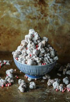 Chocolate Almond Popcorn Puppy Chow- vegan and gluten free from Heatherchristo.com