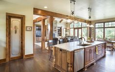 Jaw-Dropping Mix of Ranch & Craftsman Style Home (HQ Plan & Pictures) - Metal Building Homes House Plans One Story, Ranch House Plans, Craftsman House Plans, House Floor Plans, Craftsman Ranch, Story House, Craftsman Style, Craftsman Homes, Metal Building Homes