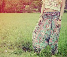 Handmade Harem Pants Fabric CHOICE Hippie Pants by Cloud9Jewels