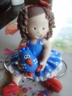 Topo de bolo personalizado, feito no estilo infantil fofinho, buscando as caracteristicas do aniversariante, como cor dos olhos, cabelos, estilo da roupa.  Fazemos para meninos também R$ 75,00