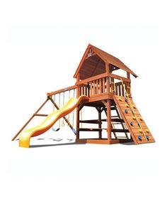 Look what I found on #zulily! Superior Play Systems Original Fort & Swing Set by KidWise #zulilyfinds