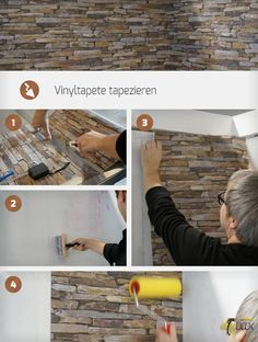 Schritt Für Schritt Vinyltapete Tapezieren. Denn Vinyltapeten Sind Mehr Als  Nur Robust! Mit Vliesträger