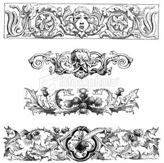 Classical design elements royalty free stock vector art for Gothic design elements