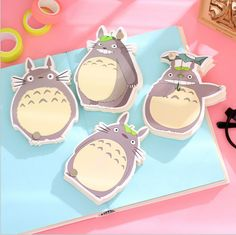 12 pieces/Lot Cute Cartoon Totoro Memo Pad Loose Leaf Notepad Mini Memo Notepad Bookmark School Office Supply Gift Statioery