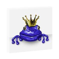 Foschkönig Blau -Hochwertiger  Kunstdruck auf Leinwand -  40cm*40cm-