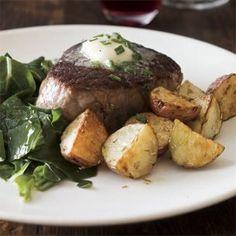 Steak with Porcini Butter (Wild Porcini Sea Salt)