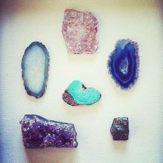 Gemstone Magnet Stone Set of 6 peaceful, meditative, and calming stones - Magnet Set
