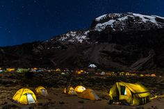 Mt. Kilimanjaro at night | #Tanzania