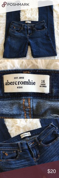 "Abercrombie Kids Size 16 Jeans Bootcut Abercrombie Kids Jeans Bootcut style.  Excellent condition.  14"" across the waist flat. Abercombie Kids Bottoms Jeans"