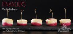 Financiers vanilla cherry Tasty, Yummy Food, Four, Food Coloring, Food Styling, Macarons, My Recipes, Fondant, Gem
