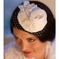 #iloveOliveandJane This was created for the bride who loves classic elegance. The detailed handcrafting on this fascinator is stunning.  Myrtle from the Olive and Jane Forget-Me-Not bridal collection.