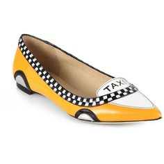 Go Taxi Leather Flats Every uptown girl's essential leather pair with glossy patent leather trim for a hint of big-city style. Leather and patent leather upper…