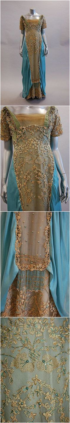A re-constructed/restored Cauet Soeurs evening gown, c. 1908, Kerry Taylor Auctions. See: http://www.invaluable.com/auction-lot/a-re-constructed-restored-cauet-souers-evening-1-c-4de008db11?afRedir=true