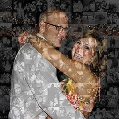 Unique Anniversary Gift for Husband or Boyfriend - Personalized Photo Collage Mosaic (8x10 or 10x10) Custom Wall Art