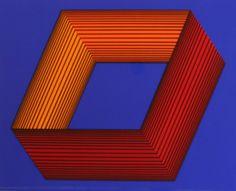 Inner Orange on Blue Richard Anuszkiewicz