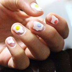 Nail Unistella by EK . Lab — [#유니스텔라트렌드]❤️  톡톡톡 컬러를 입은 #후라이네일 ...