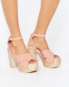 ASOS - TOUCHED - Sandali in pelle con tacco