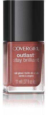Covergirl Outlast Stay Brilliant Nail Gloss, Coral Silk 240, 0.37 Ounce