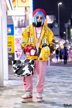 "up & coming fashion icon Shoshipoyo (aka ""Shoushi""), 19 years old, fashion business student at Bunka Fashion College 