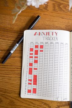 bullet journal anxiety tracker