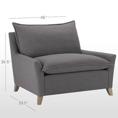 Rosalie Linen Look Chair And A Half | Living Room Lounger | Pinterest |  Armchairs, Living Rooms And Room