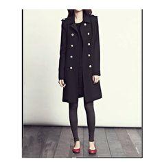 wool overcoat in black Size xs,s,m,l (FM012)