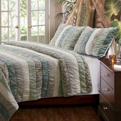 Found it at Wayfair - Greenland Home Fashions Paradise Ruched Quilt Sethttp://www.wayfair.com/Greenland-Home-Fashions-Paradise-Ruched-Quilt-Set-GL-1404EMS-GHF2396.html?refid=SBP