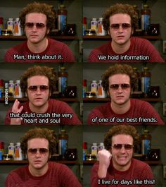 Steven Hyde - my favorite guy in the show That 70s Show Memes, Hyde That 70s Show, Thats 70 Show, 70s Quotes, Film Quotes, Steven Hyde, Days Like This, How I Feel, Favorite Tv Shows