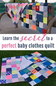 Exactly what I need to DIY this baby clothes quilt, she even includes video tutorials! Going to finally make this quilt happen, such a cute pattern! https://www.etsy.com/listing/512422464/baby-clothes-quilt-pattern-pdf-ebook