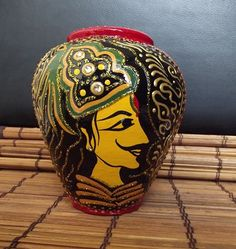 paintedEarth.in | Baadshah Pot in Red