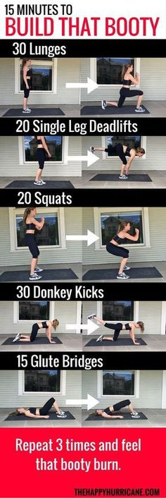 Gym & Entraînement : Here is one of my FAVORITE no equipment at home workouts for when I want to targ...