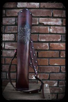 Custom Studded Leather Archery Quiver. $140.00, via Etsy.