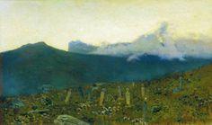 Levitan Paintings All | Tatarian cemetery. Crimea.