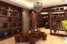 Chinese Interior Design | Chinese style tea shop interior design rendering | Download 3D House