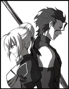 """[Day 8] Favourite anime couple: Saber and Lancer, from """"Fate/Zero."""" Simply because they seemed to have good chemistry. They shared a high sense of chivalry, as well as profound respect for one another."""