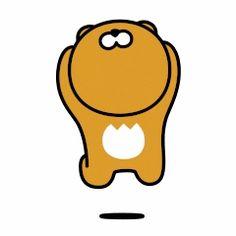 Emoticon, Emoji, Kakao Ryan, Kakao Friends, Debby Ryan, Cartoon Gifs, Presents For Friends, Line Friends, Aesthetic Gif