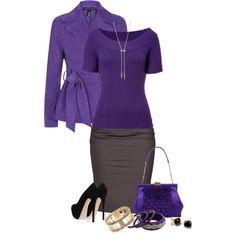"""Untitled #1165"" by nikki-kersey on Polyvore/  Excellent use of tanzanite color."